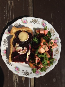french village diaries recipes beetroot and goats cheese tart