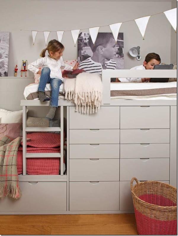 Cameretta per Bambini e Ragazzi-letto soppalco-2
