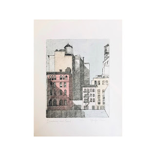 Marilyn Lurio Signed Etching