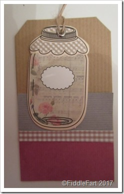 Jar gift tag crafts