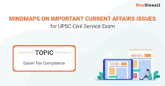 UPSC Current Affairs Issues - Mindmap: Easier Tax Compliance