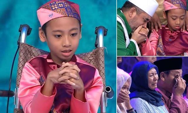 Otaknya 'Merakam' Al-Quran, Menangis Orang Melihat Budak Kelumpuhan Otak Namun Memiliki Kelebihan Luarbisa
