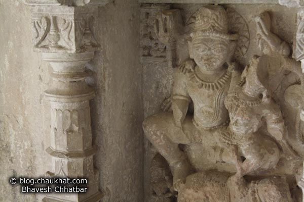 Bhangarh - Ruined Statue - Carved