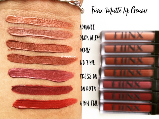 fiinx uk matte lip cream swatch review