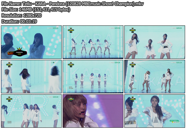 [Perf] KARA   Pandora @ MBCmusic Show! Champion 120828