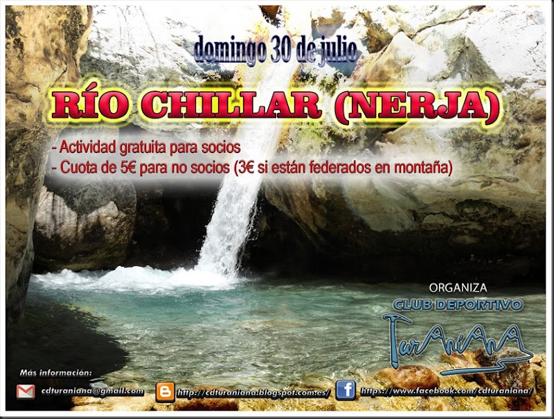 Cartel Rio Chillar