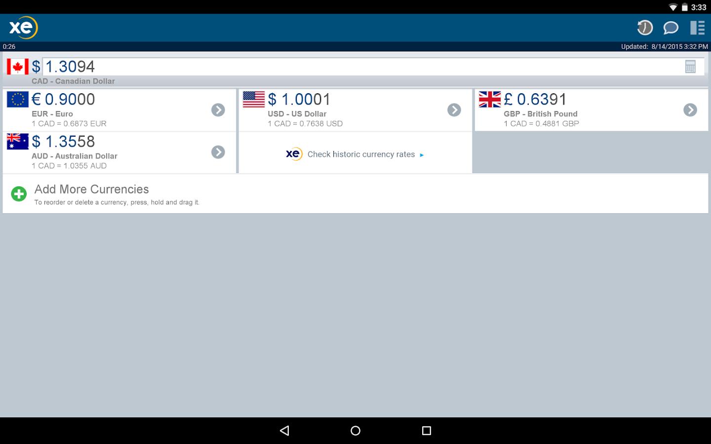 XE Currency Pro- screenshot