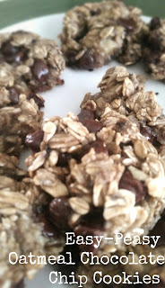 Turning mommy: 3 ingredient oatmeal chocolate chip cookies