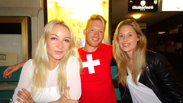 meeting the Swiss locals at Adriano's Cafe in Bern, Switzerland in Bern, Bern, Switzerland