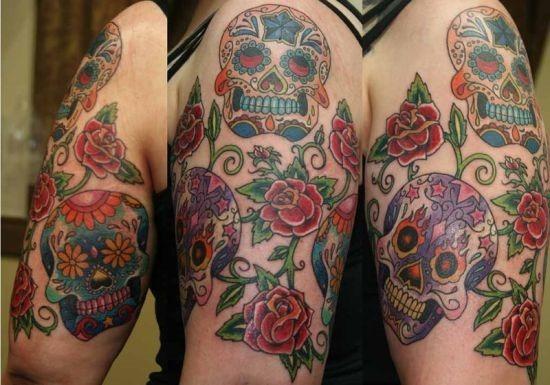 flaming_olhos_açcar_caveira_rosa_tatuagens