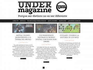 Screenshot de Under Magazine