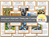 History Timeline Cards: Ancient Times