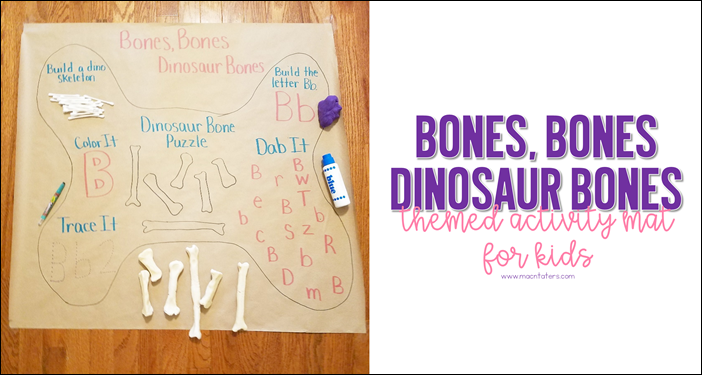 B is for Bones Activity Mat for Kids