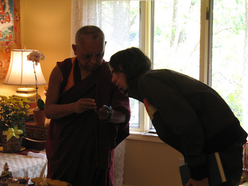 Osel with Lama Zopa Rinpoche in Madison, WI in Sep 2009