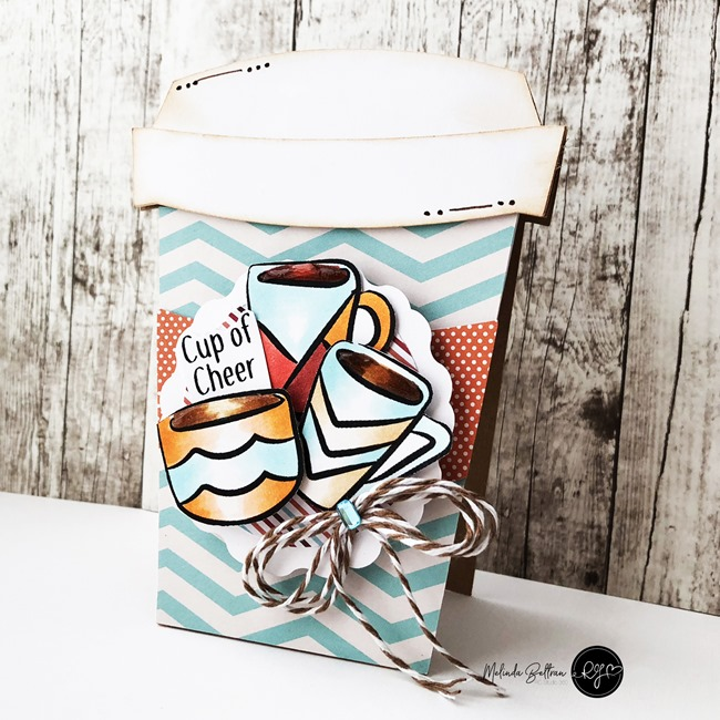 coffee cup shaped card melinda beltran