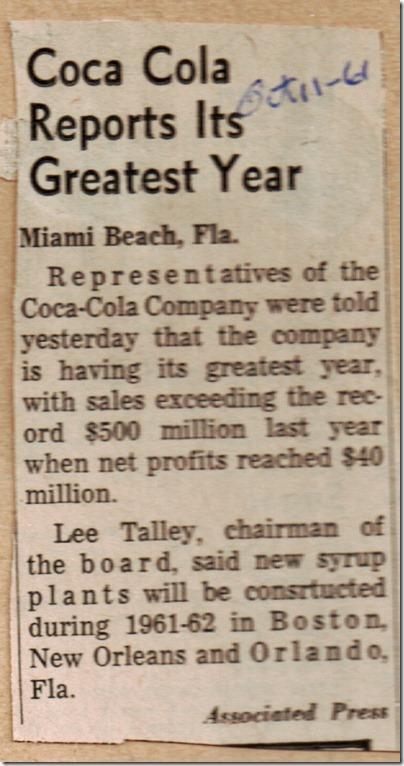 Coca Cola 10_11_1961