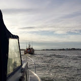 16 July 2014 - Poole ALB towing a 7m day boat with engine failure back to Poole  Photo: RNLI Poole/Dave Bursey