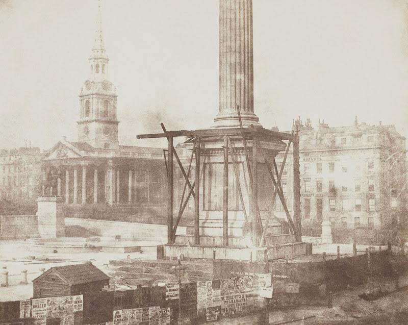 Trafalgar Square of London Being Built in 1843