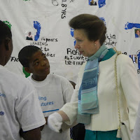 Princess Ann being shown around at Stepping Stones Int'l