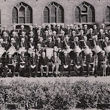 Eerste groepsfoto politieharmonie Mechelen 1947