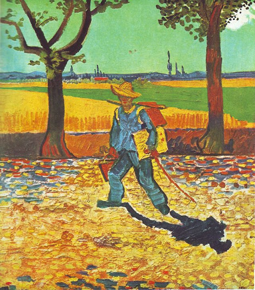 painter on the road to tarascon, vincent van gogh