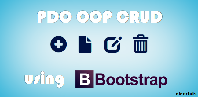 PHP PDO CRUD tutorial using OOP with Bootstrap