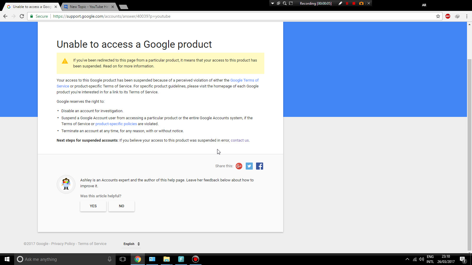 Can't sign into youtube account - YouTube Help