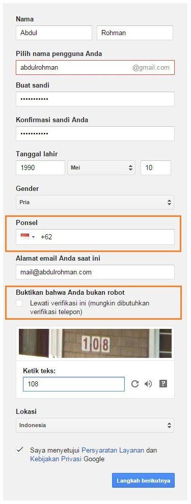 Cara Membuat Email di Gmail Tanpa Verifikasi Nomor HP