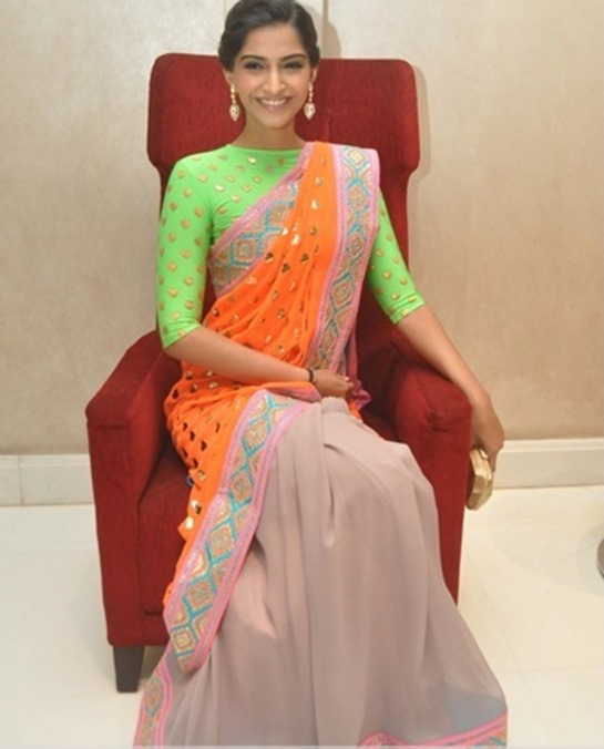 sonam independence day saree