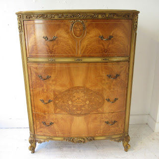 Dresser with Wooden Inlay