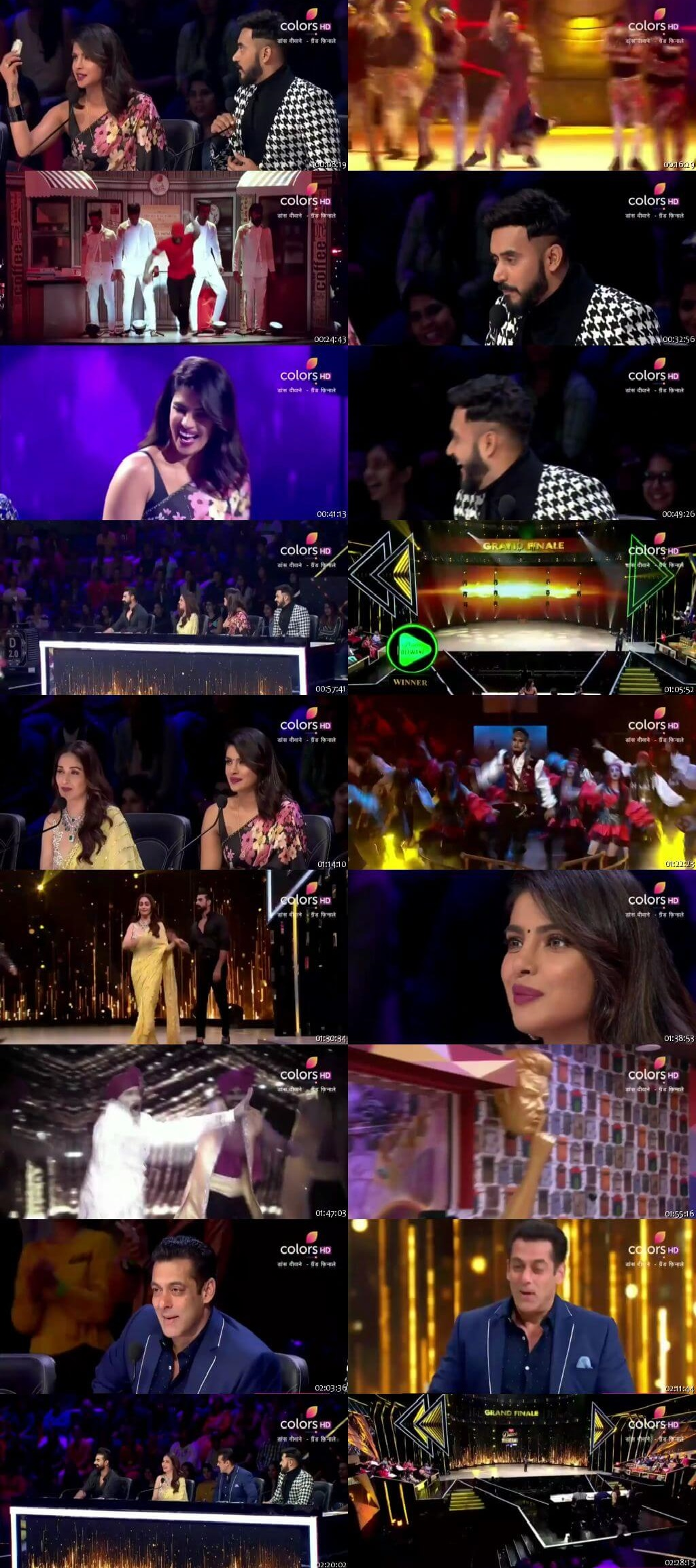 Screenshots Of Hindi Show Dance Deewane 2 28th September 2019 Episode 28 - Grand Finale 300MB 480P HD