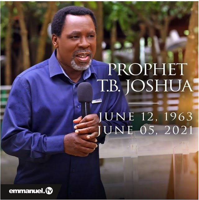 These were is last words TB Joshua's church reveals his last words  before his death