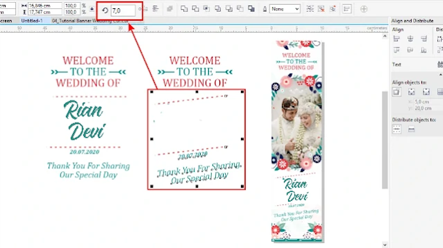 Banner Wedding CDR : Cara Membuat Banner Wedding Gratis