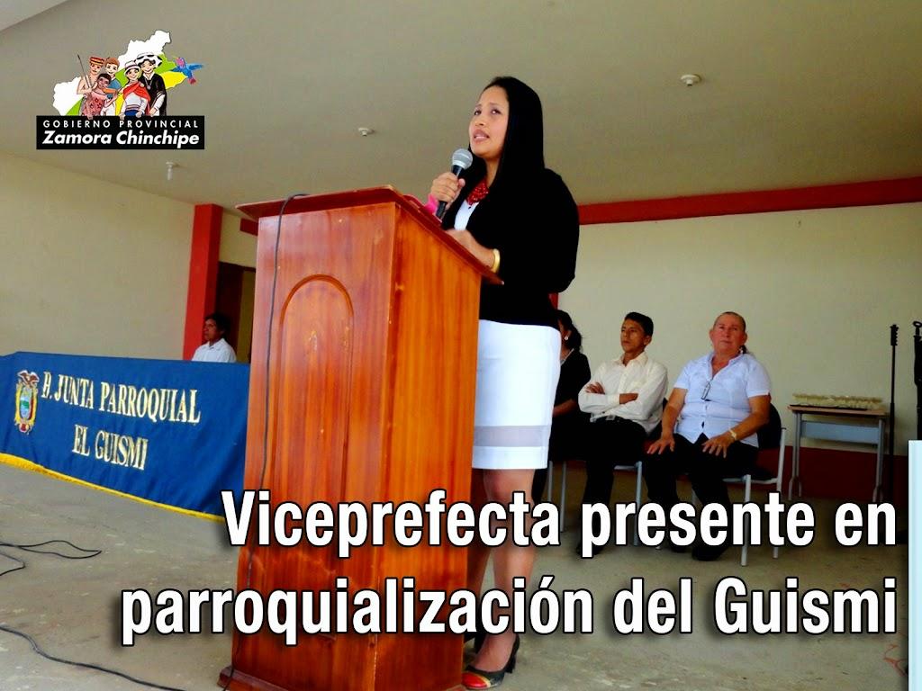 VICEPREFECTA PRESENTE EN PARROQUIALIZACIÓN DEL GUISMI