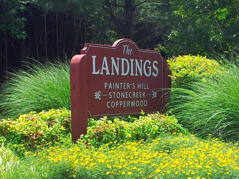 Sandblasted Sign - The Landings