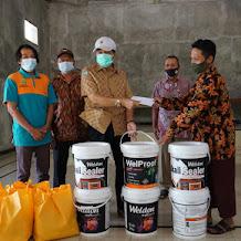 Tilik Warga Saat Pandemi, Gandung Pardiman Bantu Pembangunan Gedung Serbaguna Imogiri