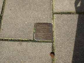 Bisschopstraat 14 Stolperstein voor Hendrik Engbert Jannink.