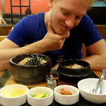 korean dinner in Yokohama - bibimbop, soon tofu and chicken bone soup in Hayama, Kanagawa, Japan