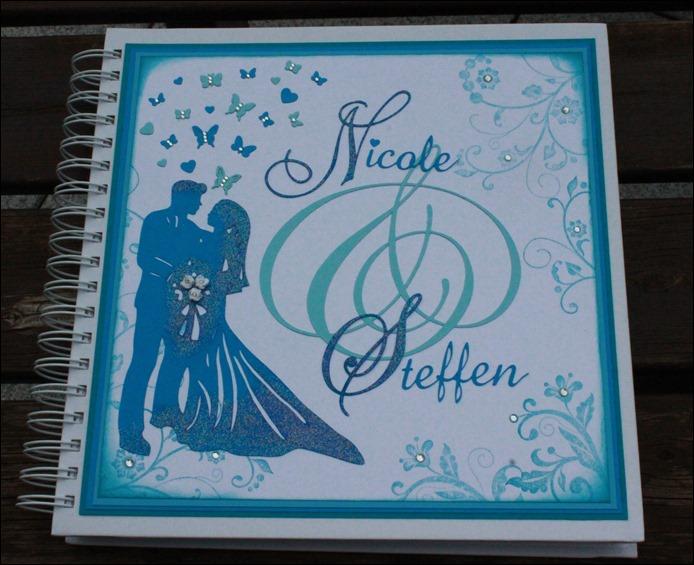 Gästebuch Hochzeit Wedding Guestbook Türkis Schmetterling 00