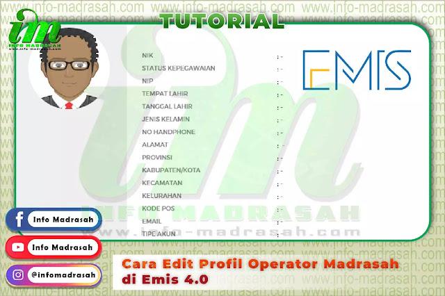 Cara Edit Profil Operator Madrasah di Emis 4.0