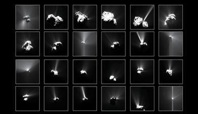 explosões no cometa Churyumov-Gerasimenko