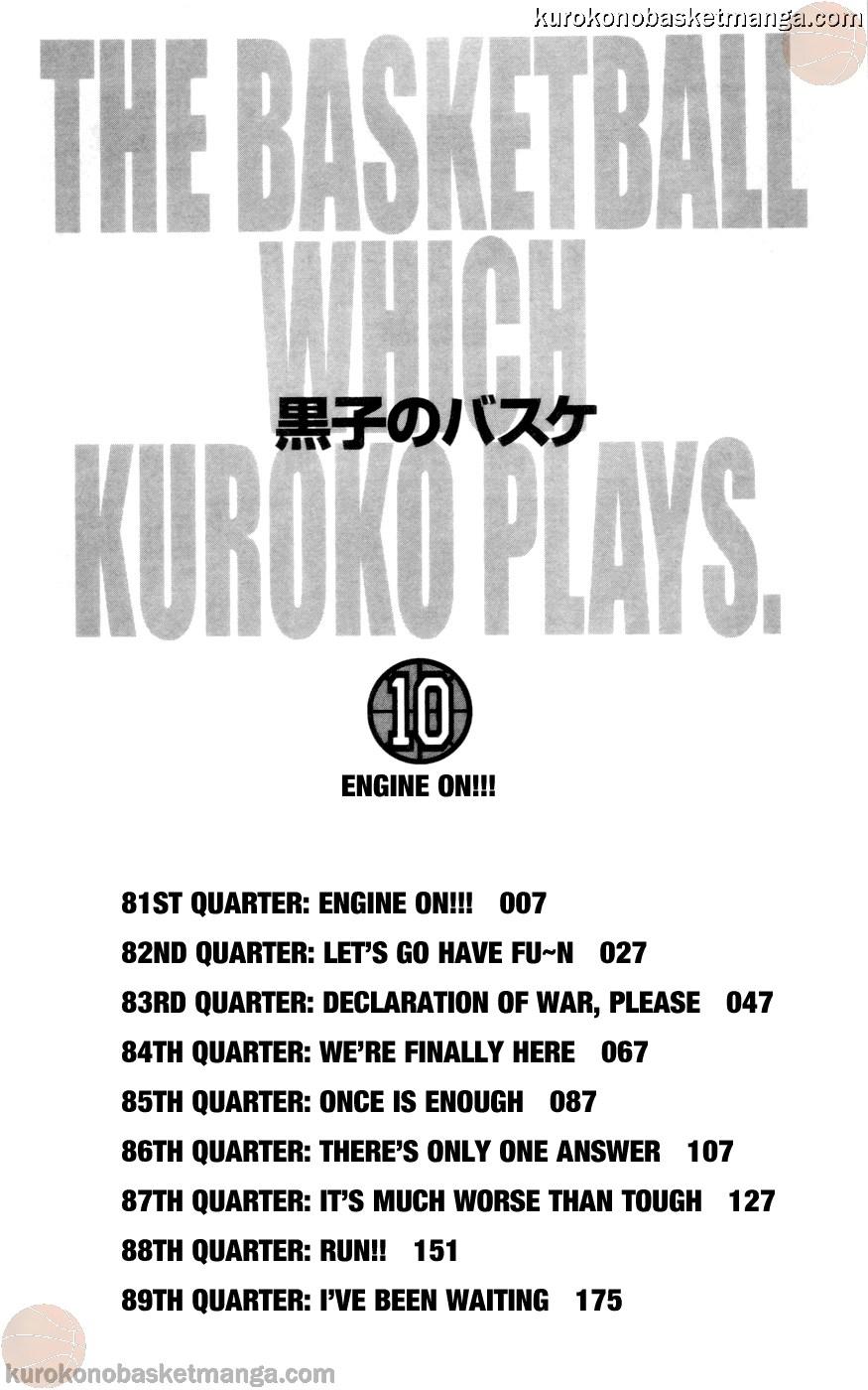 Kuroko no Basket Manga Chapter 81 - Image 04