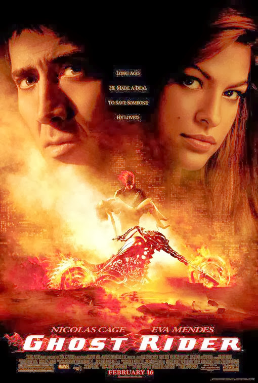 Poster Of Ghost Rider (2007) Full Movie Hindi Dubbed Free Download Watch Online At Alldownloads4u.Com
