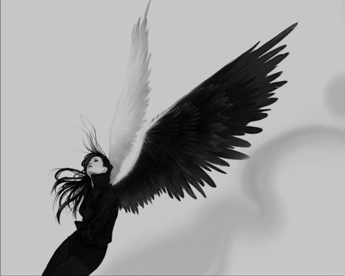 Gothic Angel With Black Wing, Angels 1