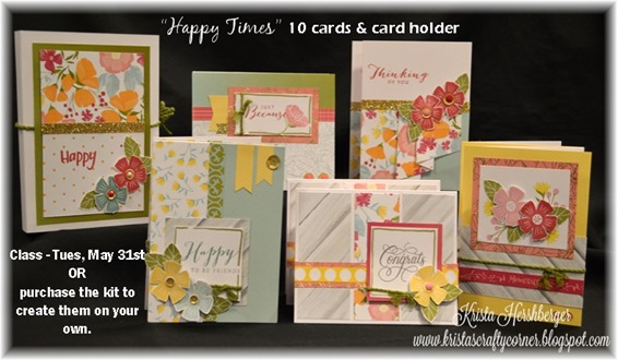 2016 Happy Times - 10 card class and card holder with words DSC_1345