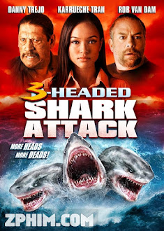 Cá Mập 3 Đầu - 3 Headed Shark Attack (2015) Poster