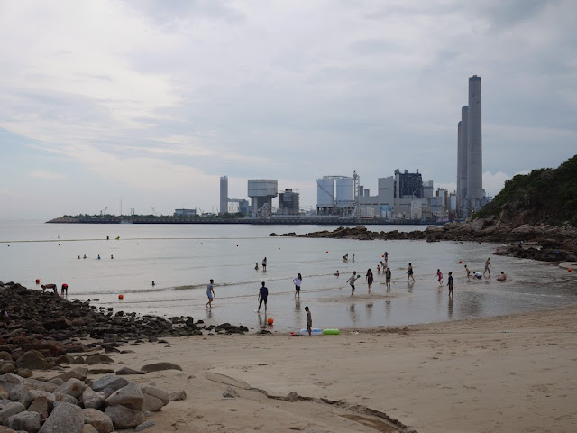 View of the Lamma Power Station from Hung Shing Ye Beach on Lamma Island, Hong Kong