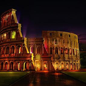 The Colloseum by Davis L. Antonio - Digital Art Places