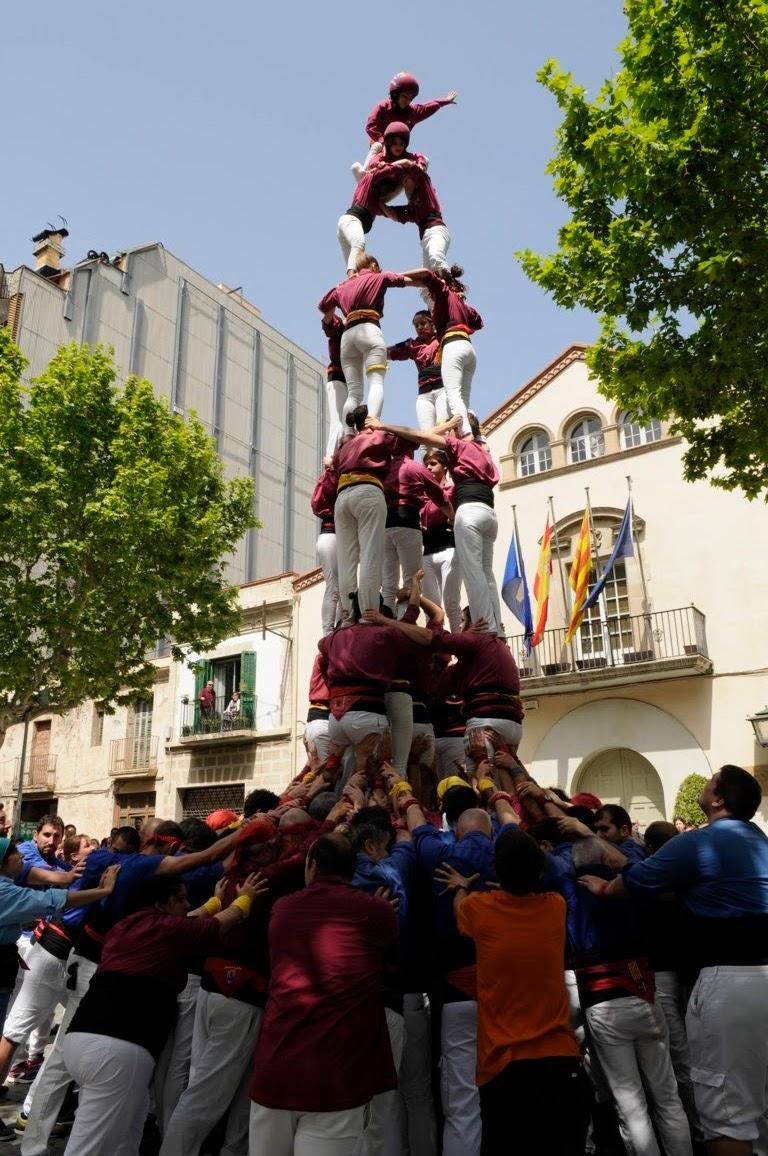 Actuació de Sant Jordi (Esplugues de Llobregat)  22-04-2018 - A_DSC1287_castellers .JPG