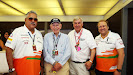 John Surtees (2nd left) with Force India's management